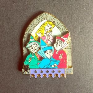 Nearly vintage Sleeping Beauty Collectible pin